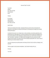 Thank You Letter Sles After thank you letter after an bio exle