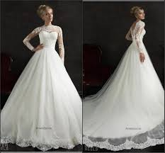 chapel wedding dresses sleeve amelia sposa white wedding dresses 2015 illusion lace