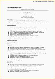 Sample Resume Dentist by Dentist Resume Corpedo Com