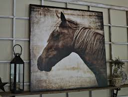 Home Goods Art Decor by Down To Earth Style New Canvas Art A Horse Outdoors That I