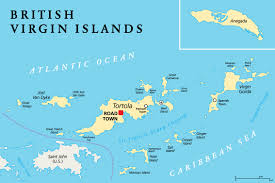 map of the bvi map of us and islands major tourist