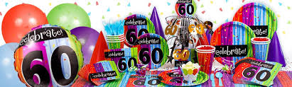 60th birthday party decorations 60th birthday paper plates streams
