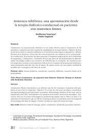 asistencia telefonica una aproximacion desde la terapia dialectico co u2026