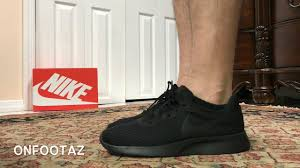 Nike Tanjun Black nike tanjun black on foot