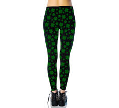 Shamrock Green Black Green Shamrock Tights For Adults