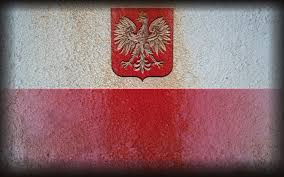red white gold eagles flags golden polish poland coat of