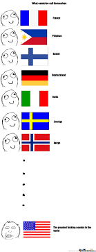Language Meme - what other countries call themselves language differences