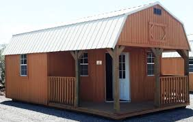 Shed Style Houses by Wk Custom Side Lofted Barn Cabin With Deluxe Wrap Around Porch Brt Jpg