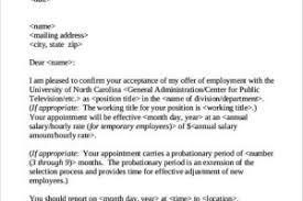 Confirmation Extension Letter Format sle appointment confirmation letter templatezet