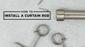 where to hang curtain rod how to install a curtain rod umbra youtube