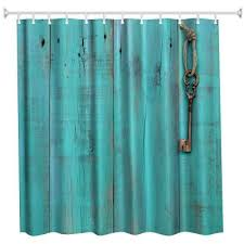 Polyester Shower Curtains Blue Door And Key Polyester Shower Curtain Bathroom Curtain High