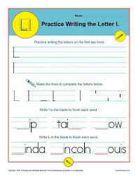 letter l worksheets printable handwriting worksheet