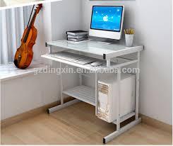 cheap living room furniture white metal glass computer desk buy