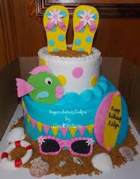 beach themed 1st birthday cakecentral com
