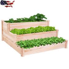 3 tier raised garden bed elevated planter box outdoor vegetable