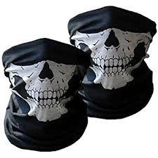 Motorcycle Rider Halloween Costume Amazon Motorcycle Face Masks 2 Pieces Xpassion Skull Mask