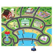amazon com nickelodeon paw patrol play mat with 1 mega car toys