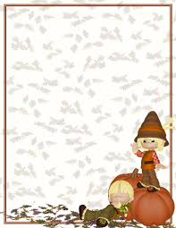 free halloween stationery background autumn or fall free stationery com template downloads