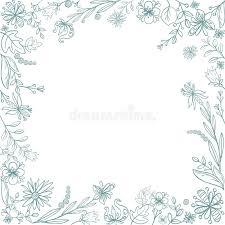 hand sketched floral frame stock vector image 65719002