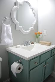 Moen Bathroom Mirrors Small Bathroom Makeover Reveal Benjamin Moore Moonshine Olympic