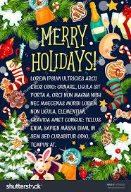 merry christmas holidays greeting card design stock vector