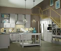 Grey And Turquoise Kitchen by Light Grey Kitchen Cabinets Kemper Cabinetry