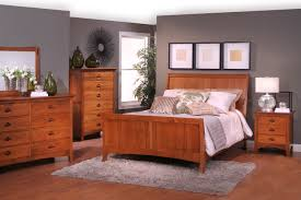 Shaker Style Nightstand Shaker Bedroom Furniture Style Platform Bed Brown Laminated Bed