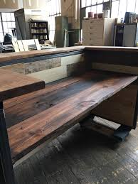 Reclaimed Wood Reception Desk Indistrial Style Reclaimed Wood Reception Desk By Montanawoodco