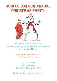 Free Christmas Party Invitation Wording - sample christmas party invitation letter rainforest islands ferry