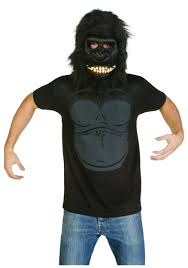Halloween Costumes T Shirts by Mens Gorilla Costume T Shirt Walmart Com