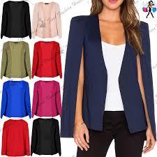 women open front sleeveless side split la s double layer blazer
