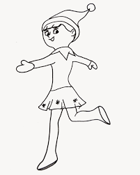 brownie elf coloring page virtren com