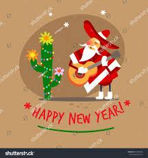 santa claus happy new year mexican stock vector 518926480