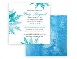snowflake baby shower invitations snowflake baby shower