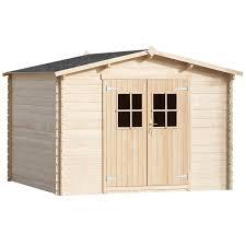 cache conteneur bois la boutique en ligne vidaxl abri de jardin cabane 28 mm 3 x 3 m