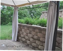 Gazebo Curtain Ideas by Outdoor Gazebo With Curtains Homeroad Diy Gazebo Curtains