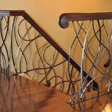 Modern Banister Rails Elegant Iron Studios Custom Ornamental Metalwork Modern