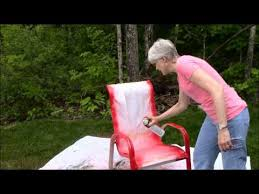 Best Spray Paint For Plastic Chairs Spray Paint Outdoor Chairs Sunset Red Youtube