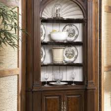 kitchen corner display cabinet marvelous cherry wooden corner cabinet with 4 tier open shelves
