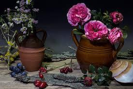Vase Deco Free Photo Still Life Flowers Roses Vase Free Image On
