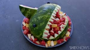 fruit filled watermelon shark bowl it u0027s easier than you think