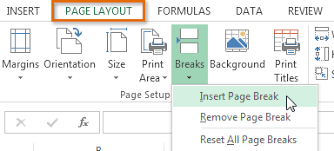 excel 2013 page layout page 2