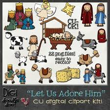 nativity themed cu clipart kit nativity