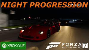 ferrari headlights at night forza 7 night progression ferrari f40 competizione youtube