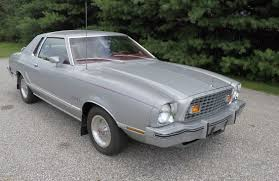 ford mustang 77 1976 ford mustang ii silver ghia edition