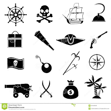 pirate icons set stock vector image 42184535