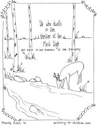 psalm 91 1 coloring page