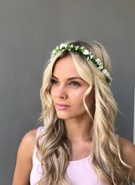 white flower headband blush wedding flower crown pink bridal floral headband pastel