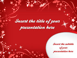 merry christmas u2013 template for powerpoint and impress