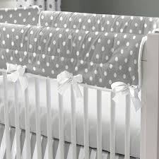 gray and white dots and stripes crib bedding neutral baby